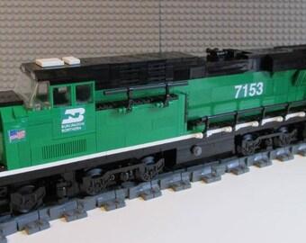 Custom Lego Burlington Northern es44ac Train Instructions NO BRICKS INCLUDED