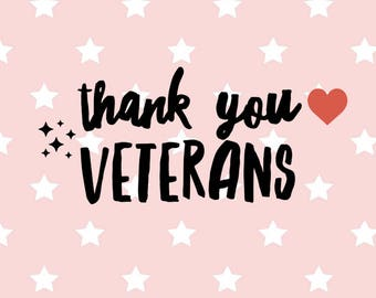 Sale! Thank you veterans SVG Cut File - veterans SVG - Heart svg - Sparkles svg - Patriotic Veteran SVG File - Cricut & Silhouette svg