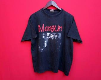 vintage Mansun indie band music large mens t shirt
