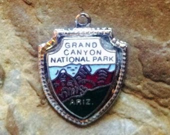 Vintage Grand Canyon National Park Charm - Sterling Silver with enamel
