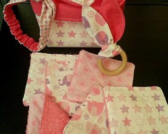 """pink"" theme baby box"