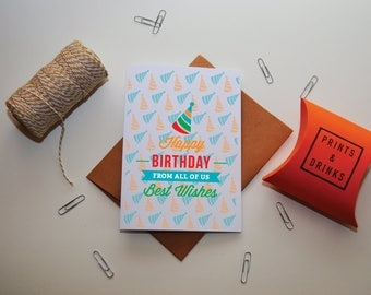 Bday Greeting Cards, Bday Card, Birthday From Us, Happy Birthday Cards, Happy Birthday Card, Happy Birthday Notecards, Family Birthday