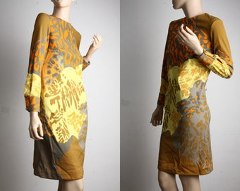 FREE SHIPPING! Rare! Vintage 60's MOD Francis X circus shift Op art deco hippie gogo dress S small