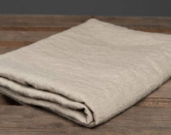 100% linen Bed Flat Sheet - softened - Natural GRAY - made in Europe - King Queen Full Double Twin sizes