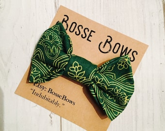 Green Bow tie, St. Patrick's Day bow tie, boy Green bow tie, clip on bow tie, baby boy bow tie,  toddler bow tie, kids bow tie, bowtie, kids