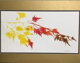 Untitled leaf print