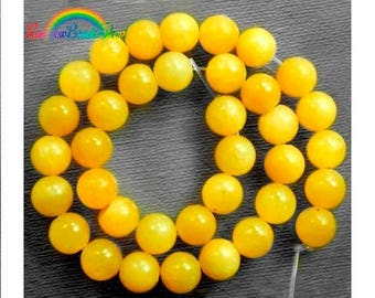 discount -10% Natural Yellow Jade Beads, 4mm 6mm 8mm 10mm 12mm Gemstone Beads, Round Natural Beads, 15''5 strand,