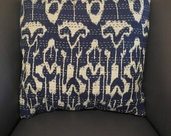 Cotton Kantha Stitch Cushion Cover
