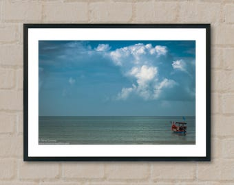 Boat and clouds. Photography Prints, home decor, home prints, gifts, wall art, prints, gift ideas, home accessories, art prints