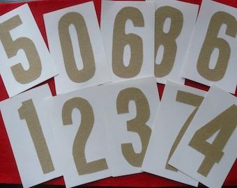 Tactile Numbers Montessori inspired