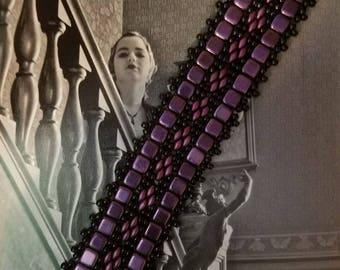Victorian Ribbon beaded bracelet