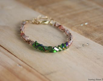 Handmade Emerald Beaded Bracelet