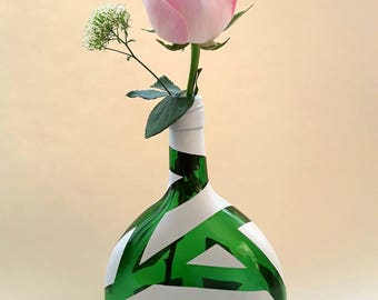 Bottle vase vase bottle of wine glass vase, modern vase painted bottle