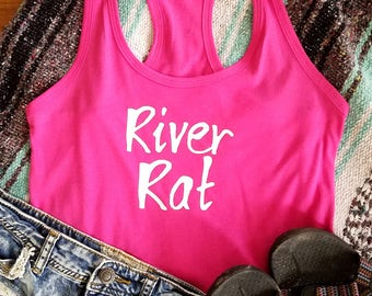 "Women's Racerback ""River Rat"" Tank Top"