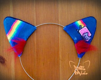 Nyan Cat Kitty Ears Costume Headband