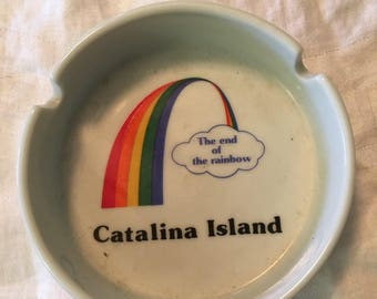Catalina island rainbow ashtray