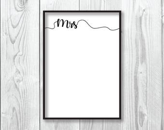 Wedding Gift | Wedding Print | Mr & Mrs | Couple Print