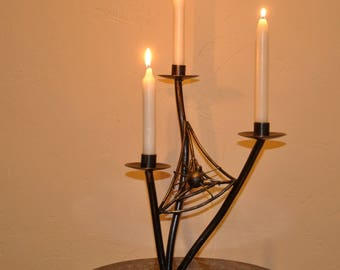 candlestick wrought iron Spider Web