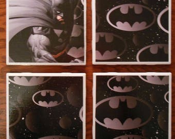 Coasters Batman Cup Holders Gifts Comics Home Decor Ceramic Cork Barware Drinks Furniture Decor Justice League Bat Man Cape