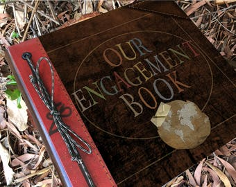 Our Adventure Engagement Book Handmade and Personalized