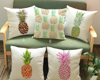 Pineapple Graffiti Square Throw Pillow Cover Pillowcases Decorative Cushion Cover For Home
