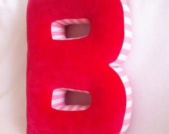 A cuddly letter, letter cushions, pillows, cushions, personalised cushions
