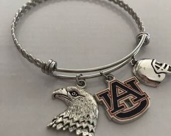 Auburn University bangle charm bracelet