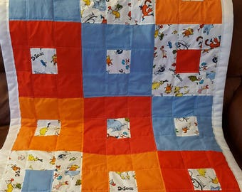 Dr. Seuss toddler blanket