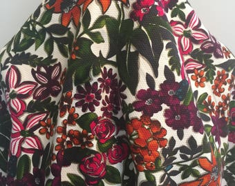 Retro 70's Floral Pique