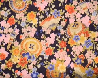 Asian Floral with Fans by Cositio Textiles