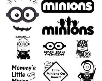 Minion svg,Minion eps,Minion silhouette,Minion file, cutting files,instant download, Minion cutting file, Minion silhouette files