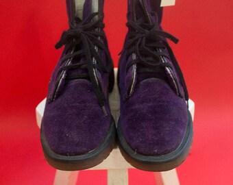 Original 70's Rare DR MARTENS violet VELVET