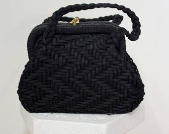 Vintage 40's braided Handbag