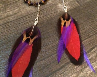 Long Feather Earrings!