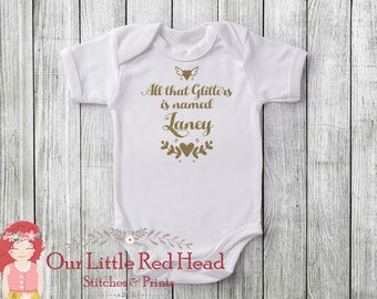 All that Glitters Personalized Baby Bodysuit