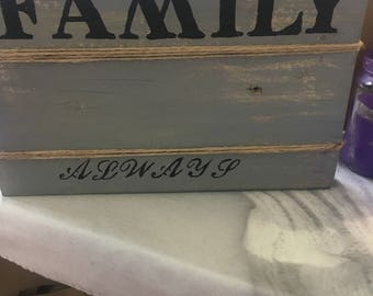 Family reclaimed wood sign