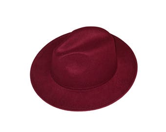 Wide Brim Hat - Maroon