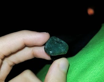 Dark green adventurine hat pin