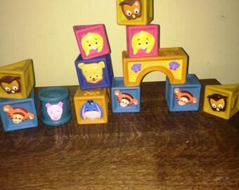 Winnie the Pooh Rubber Blocks