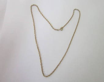 Vintage Strong Gold Tone 18 inch Chain Necklace