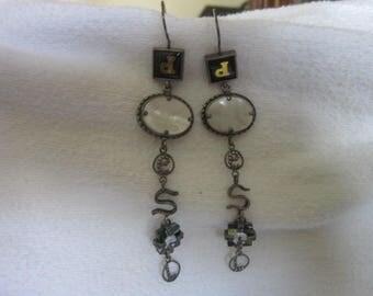 Steampunk Wild Diesel Sterling Silver Long Dangle Pierced Earrings Super Must See