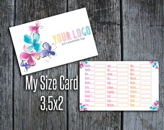 My Size Card - 3.5x2 - Lula Business Card - Free Personalization for LuLaRoe Consultants - Business Card Size, Flowers