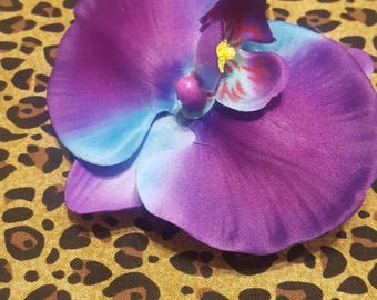 Pinup Orchid Hair Flower Clips