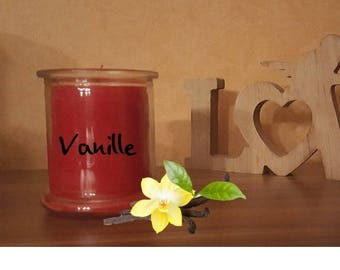 Vanilla scented candle in a glass decoration glass Lantern