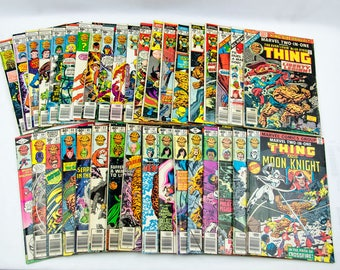 Marvel The Thing Comic Book Lot 1,3-7,20,27,29-33,35-36,42-43,52-58,61-67,69,87