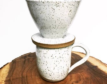 ONE White With Speckles Coffee Pour Over Set