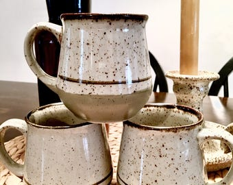 Ceramic mugs set (3) | Vintage mugs