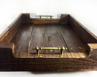 Rustic Upcycled Wood Serving Tray