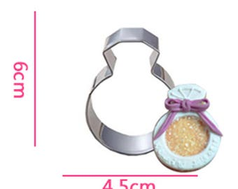 Diamond Ring Cookie Cutter- Fondant Biscuit Mold - Pastry Baking Tool Set