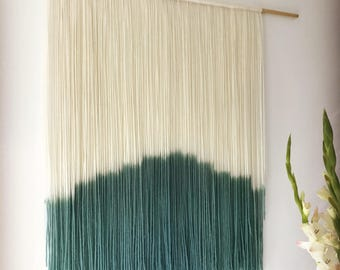 Authentic handmade 100% wool and hand-dyed wall hanging home textiles decor